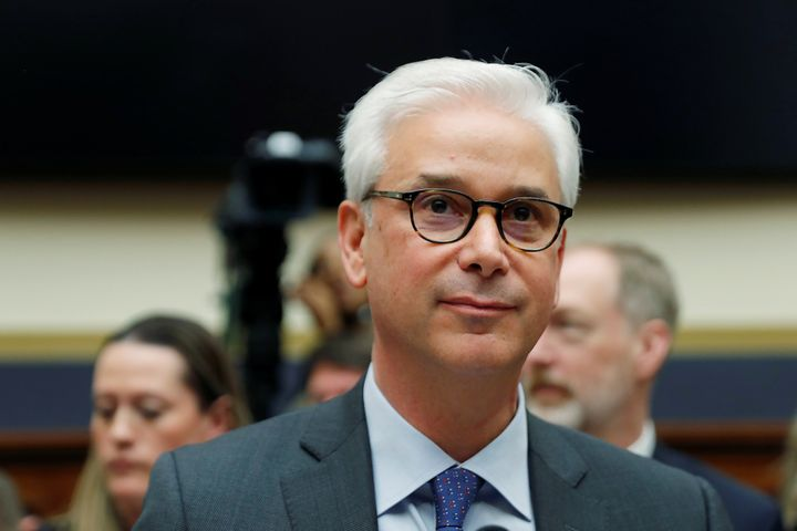 Wells Fargo CEO Charlie Scharf testifies before a House Financial Services Committee on Capitol Hill on March 10, 2020.