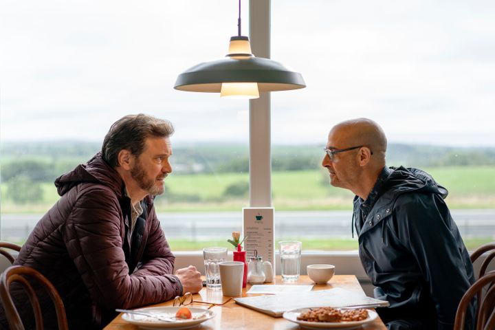 """Colin Firth and Stanley Tucci star in """"Supernova,"""" which had its world premiere atSpain's San Sebastián In"""