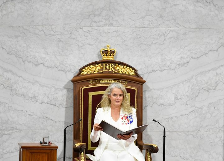 Governor General Julie Payette delivers the throne speech in Ottawa on Sept. 23, 2020.