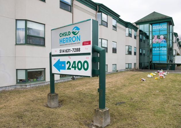 Residence Herron, a long term care home, is shown in Montreal on April 14,