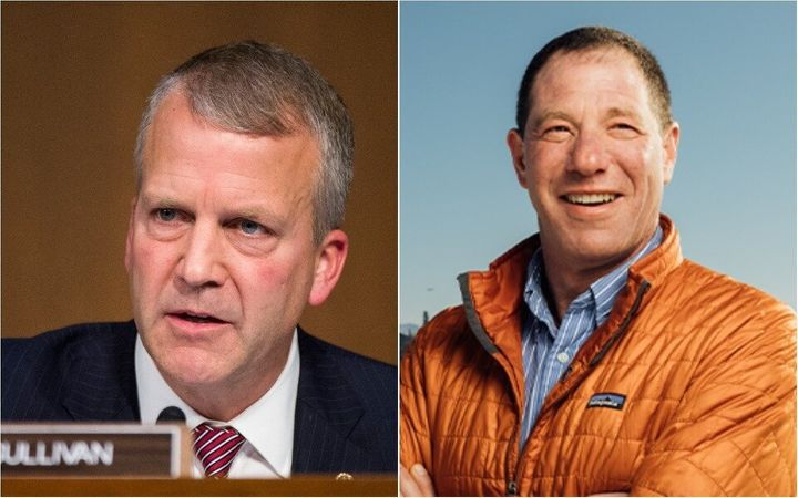 Mine executives said they were counting on Sen. Dan Sullivan (R-Alaska), left, who is being by challenged by Dr. Al Gross, an