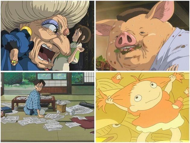 スタジオジブリが提供しているアニメの場面写真