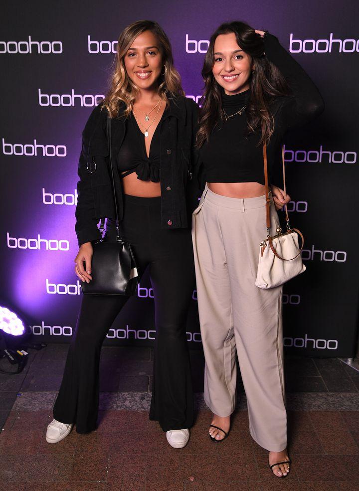 Yasmin Tuncdoruk and Bella Varelis attends the boohoo x Nasty Gal x boohooMAN Housewarming Party on September 11, 2019 in Sydney, Australia.