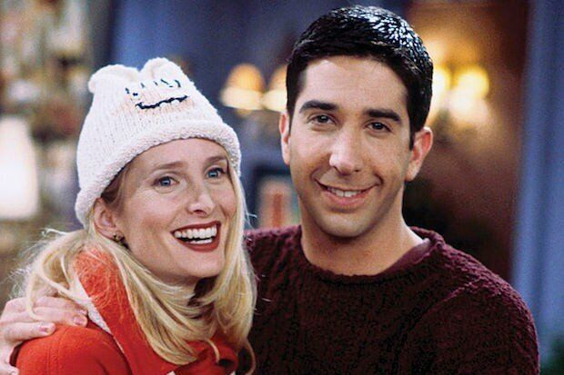 Jane Sibbett as Carol Willick-Bunch with David Schwimmer as Ross Geller