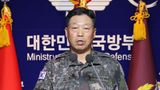 Lt. Gen. Ahn Young Ho, a top official at the South Korean military's office of the Joint Chiefs of Staff, speaks during a press conference at the Defense Ministry in Seoul, South Korea, Thursday, Sept. 24, 2020. South Korea said Thursday North Korean troops shot a South Korean government official who may have attempted to defect and set his body on fire, after they found him on a floating object in waters near the rivals' disputed sea boundary. (The Kookbang Ilbo via AP)