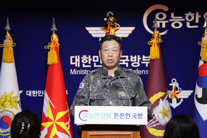 Lt. Gen. Ahn Young Ho, a top official at the South Korean military's office of the Joint Chiefs of Staff, said Thursday North
