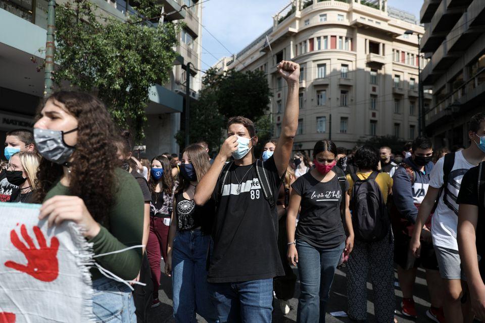 Εικόνες από το μαθητικό συλλαλητήριο στο κέντρο της