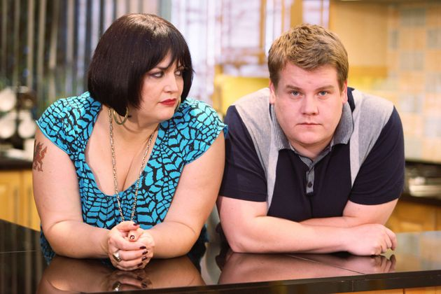 Ruth in character with James Corden