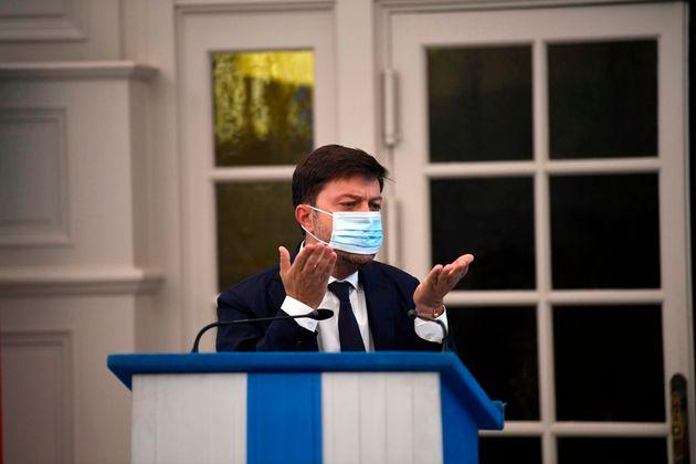 Benoît Payan, adjoint à la maire de Marseille, en conférence de presse jeudi 24 septembre...