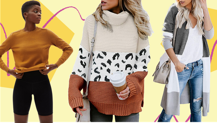 We found oversized, cropped and balloon sleeve sweaters, turtlenecks and cardigans under $60.