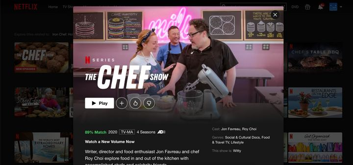 """Preview image for """"The Chef Show"""" on Netflix."""