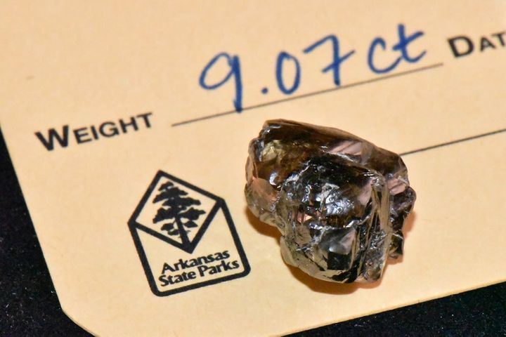 Kevin Kinard of Maumelle found the second-largest diamond in the 48-year history of Crater of Diamonds State Park on Labor Da