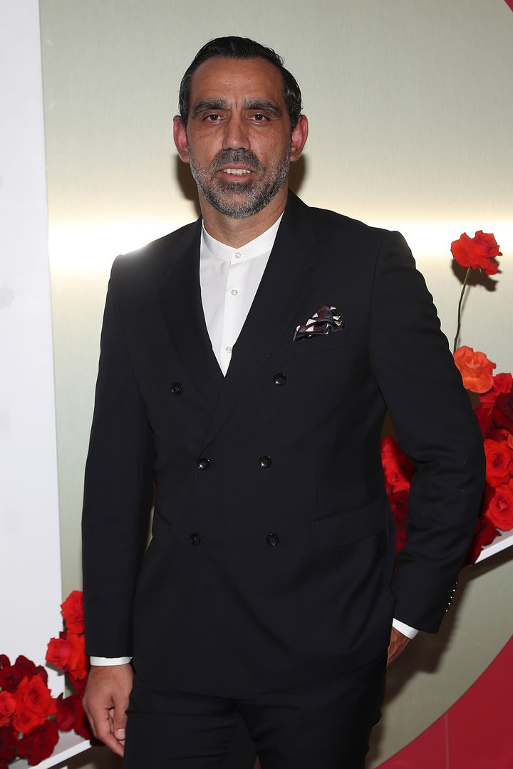 Adam Goodes attends the Gala Runway 1 show at Melbourne Fashion Festival on March 10, 2020 in Melbourne, Australia.