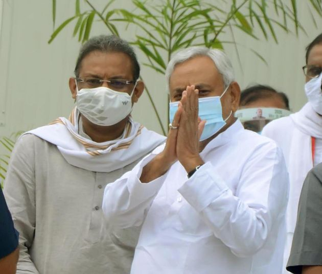 Bihar Chief Minister and Janata Dal United national president Nitish Kumar arrives at the party office...