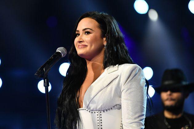 Demi Lovato en enero de 2020 en la gala de los premios