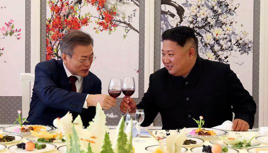 문재인 대통령과 북한 김정은 위원장이 9월초에 주고받은 친서
