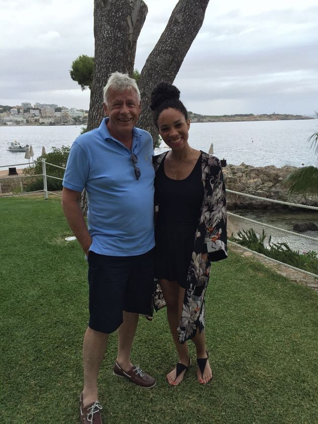 Michelle Ackerley with her dad, Marcus.