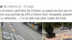 El recorrido imposible del carril bici de Oviedo se hace