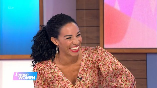Michelle Ackerley on the Loose Women panel.