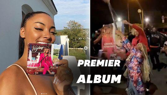 """Wejdene célèbre la sortie de son album """"16"""" avec un feu"""