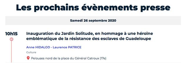 La mairie de Paris inaugure un jardin au nom de Solitude, une résistante noire de