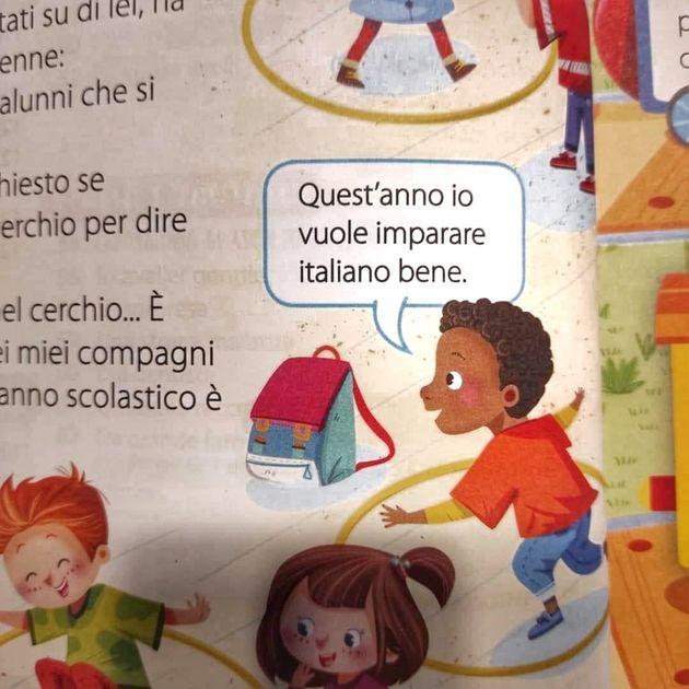 """""""Io vuole imparare italiano bene"""" è polemica per la frase contenuta nel manuale di secondo elementare"""