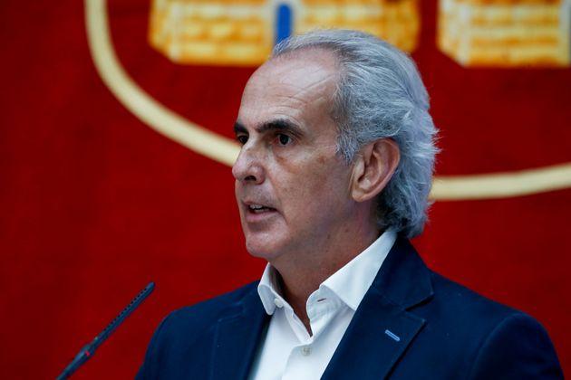 El Consejero de Sanidad de Madrid, Enrique Ruiz