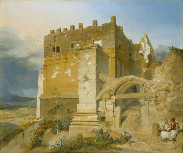 Karl von Heideck, Aufgang zur Akropolis (Ανάβαση στην...
