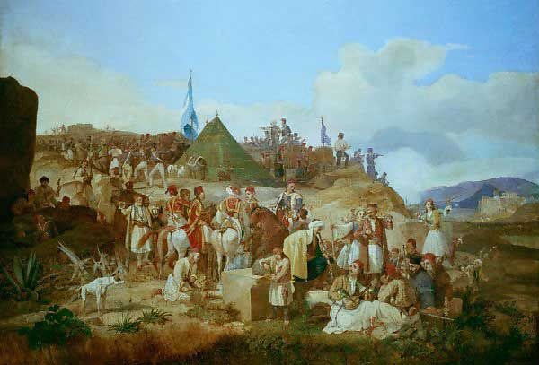Karl von Heideck, Philhellenenlager während des Unabhängigkeitskrieges (Στρατόπεδο...