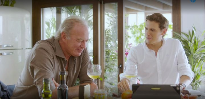 Bertín Osborne y Albert Rivera en Mi casa es la tuya desde Cútar (Málaga).