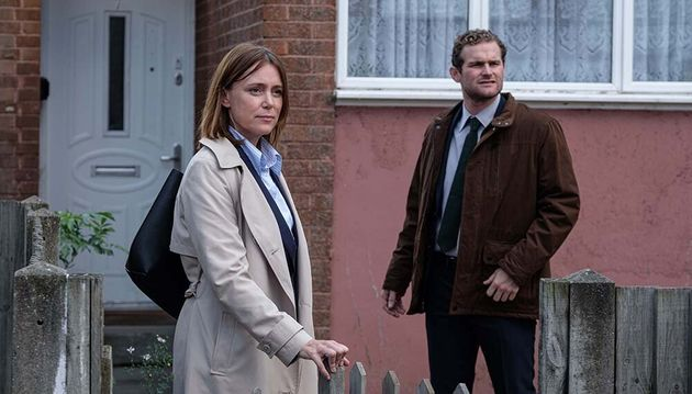 Keeley Hawes with co-star Michael Jibson as DS Stuart Reeves