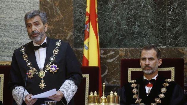 El rey junto al presidente del