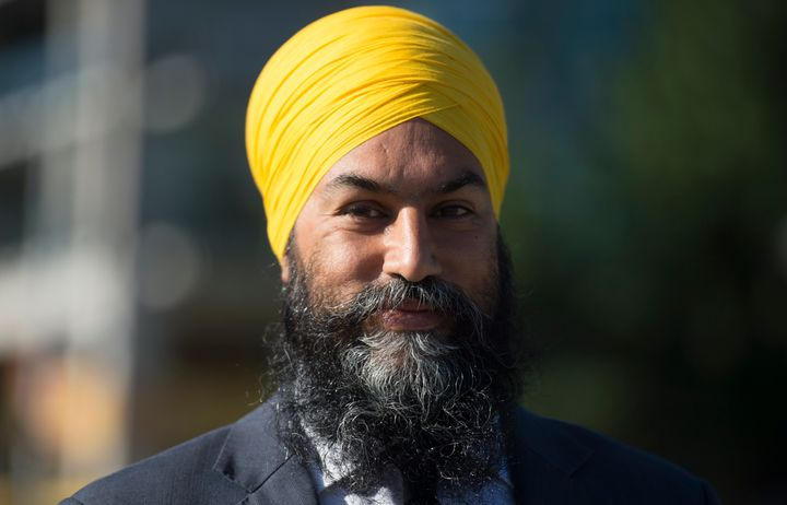 NDP Leader Jagmeet Singh addresses the media in Vancouver on Aug. 18, 2020 following the resignation of the federal finance minister.