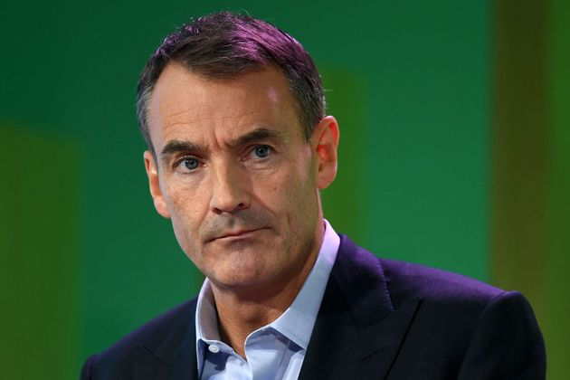 BP CEO Bernard Looney speaks during an event in London on Feb. 12, where he declared the company's intentions...