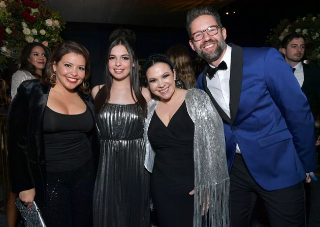 (Left to right) Justina Machado, Isabella Gomez, Gloria Calderon Kellett and Todd Grinnell attend the...