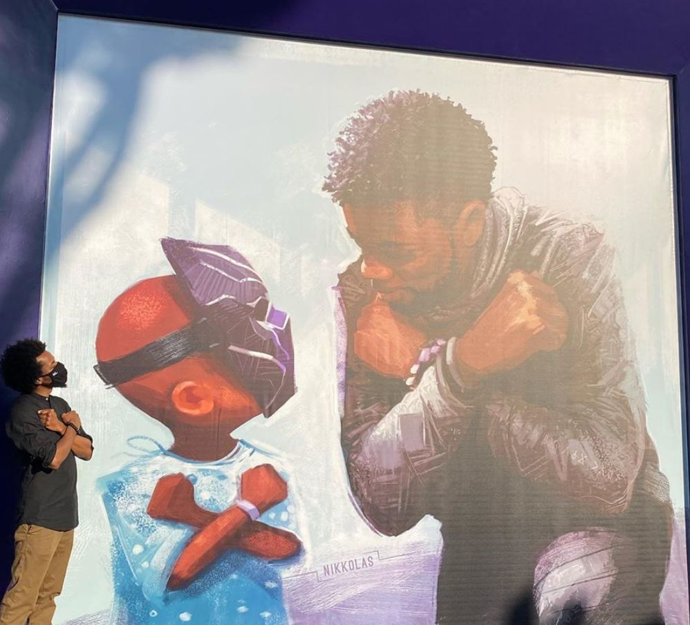 'King Chad': Chadwick Boseman Mural Unveiled In California Disneyland