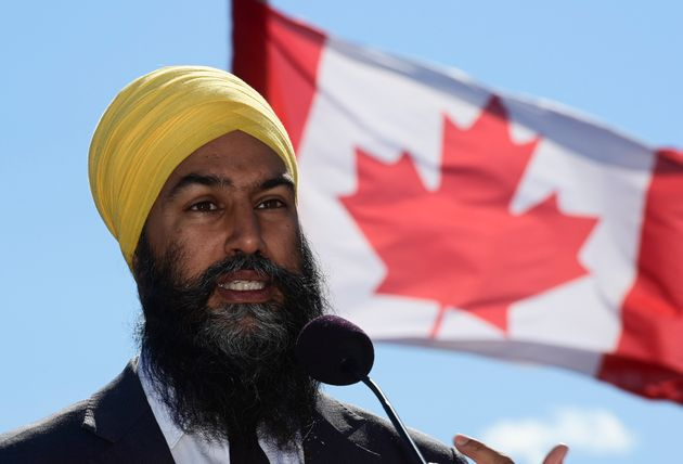 NDP Leader Jagmeet Singh holds a press conference in Gatineau, Que. on Sept. 18,
