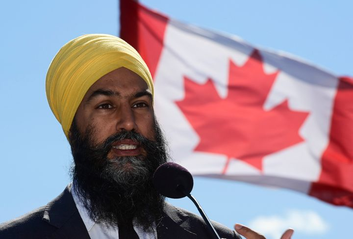 NDP Leader Jagmeet Singh holds a press conference in Gatineau, Que. on Sept. 18, 2020.