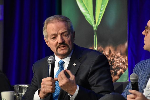 U.S. Bureau of Land Management Acting Director William Perry Pendley speaks at a conference in Fort Collins,...