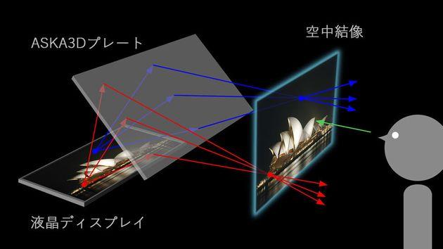 ▲プレートのサイズによって表現できる画像のサイズや結像できる距離が決まる