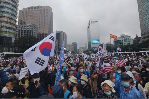(자료사진) 보수단체들이 지난 8월15일 광복절에 서울 광화문에서 집회를 개최한 이후 관련 코로나19 확진자가