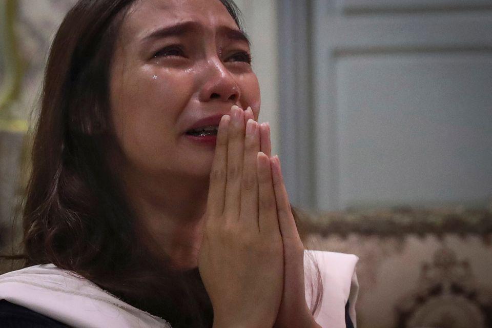Η Τρι Νόβια Σεπτιάνι κλαίει...