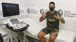 Cachondeo con la primera imagen de Luis Suárez como jugador del Atlético: el motivo salta a la