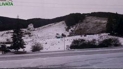 Cade la neve nel Lazio: i fiocchi a settembre non si vedevano da