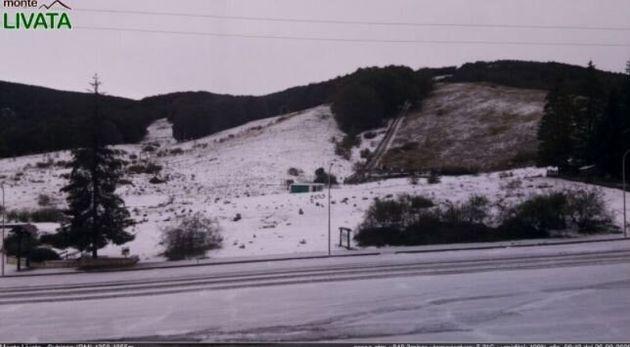 Cade la neve nel Lazio: i fiocchi a settembre non si vedevano da decenni