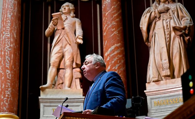 Gérard Larcher, ici lors d'un discours d'hommage à des militaires tués au Mali en...