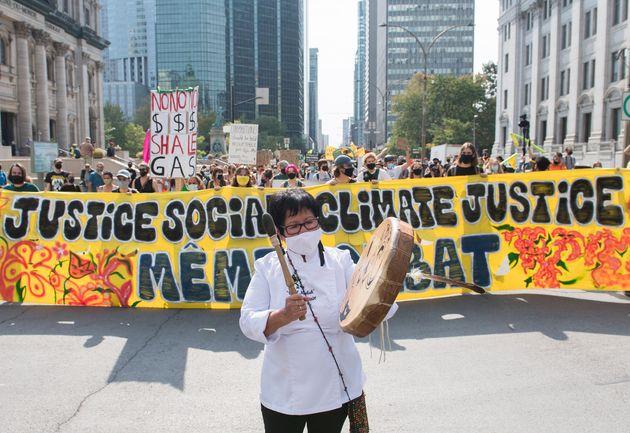 Manifestation à Montréal pour la journée mondiale de mobilisation climatique (Graham