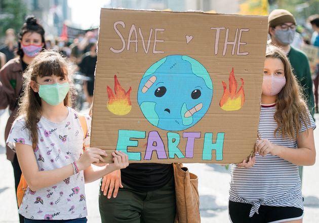 Manifestation à Montréal pour la journée mondiale de mobilisation
