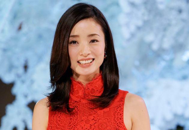 半沢花役を演じた上戸彩さん(=2018年11月21日撮影)