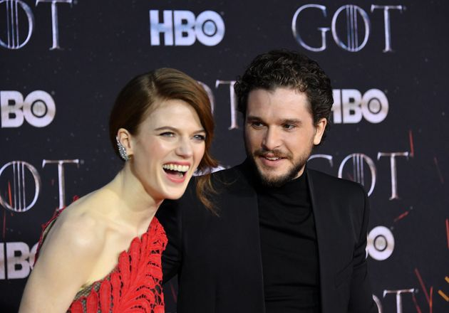 Rose Leslie and Kit Harington at the premiere of Game Of Thrones' final